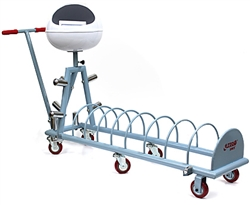 DHS portable weight rack with wheels and chalk container