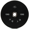 DHS 15 kg black rubber Training Bumpers