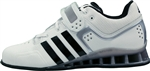 White adiPower weightlifting shoes