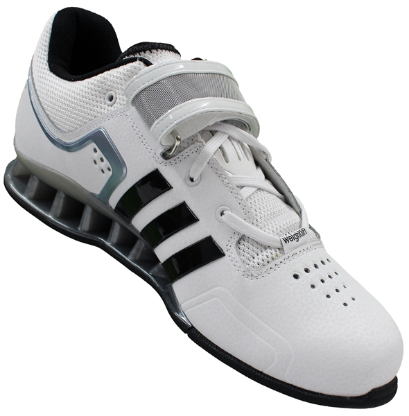 a393dc704530f9 adidas adiPower weightlifting shoes white black grey model M25733