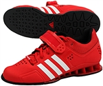 Red adiPower weightlifting shoes